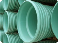 Ipex  6044012 200 mm x 4 m ULTRA-RIB PVC Pipe, GSKT - Green (8
