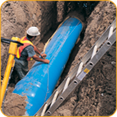 Ipex  6568186 150 mm x 6.1 m BLUE BRUTE C900 C900 SDR18 PVC Pipe, GSKT (6